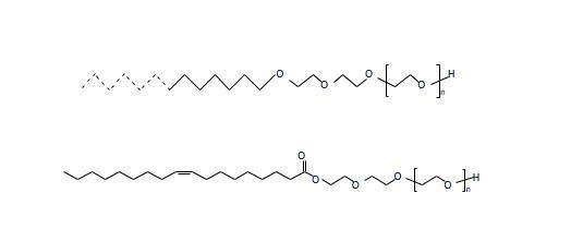 脂肪醇和脂肪酸烷氧基化物结构图